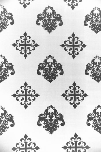 Vintage Wallpaper - Historic Pattern from 18th century Ancient Background Backgrounds Black & White Black And White Blackandwhite Christmas Classic Close-up Decoration Design Fleur De Lys Full Frame Ice Crystal Nostalgia Pattern Repetition Retro Retro Styled Seamless Pattern Symmetry Vintage Wallpaper White Background Winter