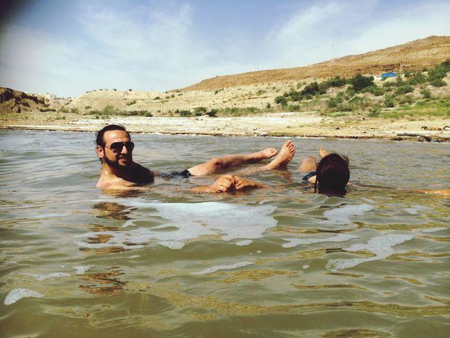 Dead Sea  Swimming Enjoying The Sun That's Me