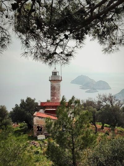 Old lighthouse with beautiful sea view Sea Seascape Lighthouse Turkey Turkeyphotooftheday Backpack Trekking Lycianway Travel Photography Backpacking EyeEmNewHere No People Outdoors Nature