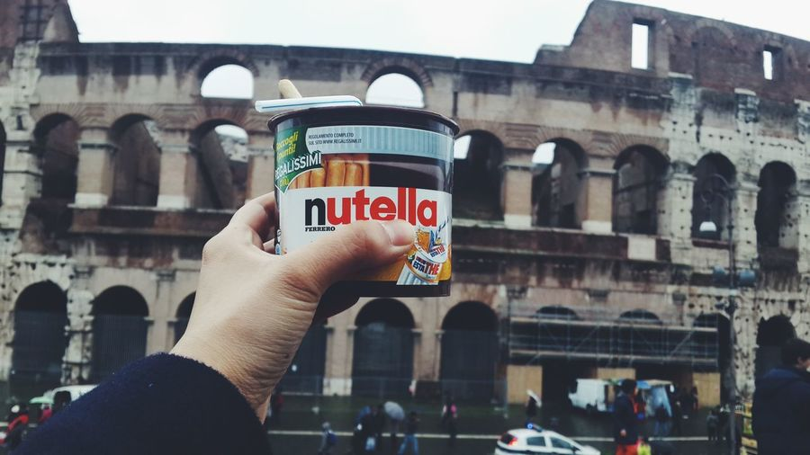 nutella and Colosseum Travel Italy Colosseum Impossible Moments