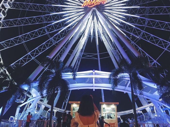 Asiatique Asiatique The Riverfront Bangkok Thailand PhonePhotography Ferris Wheel Romantic Night An Eye For Travel Stories From The City