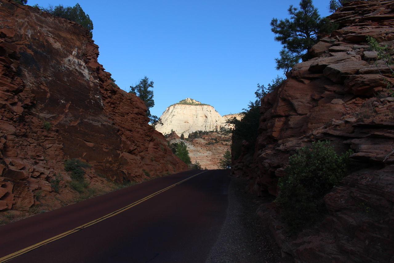 ROAD PASSING THROUGH ROCKY MOUNTAIN