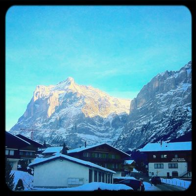 The beauty of the skies in the Swiss mountains Landscape Switzerland Popular Traveling