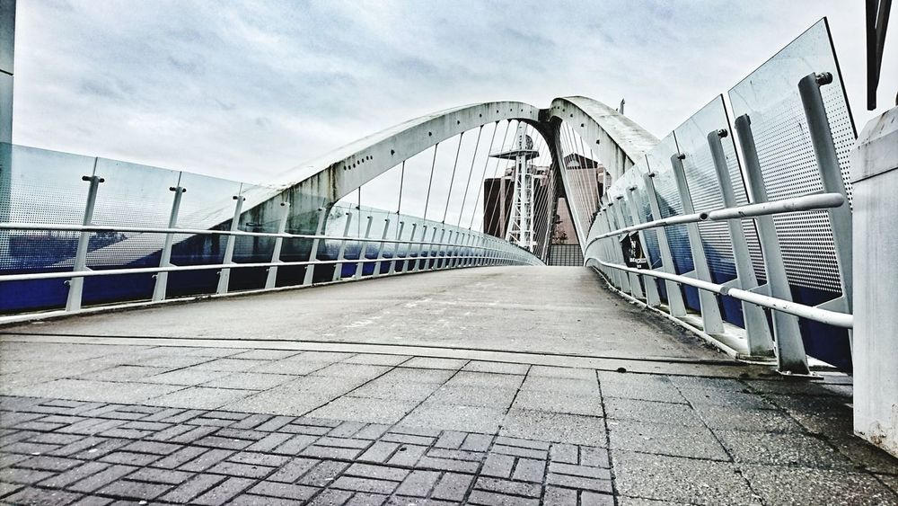 Bridge - Man Made Structure Sky Railing Outdoors Built Structure The Way Forward Architecture Footbridge Day Cloud - Sky No People Connection Water