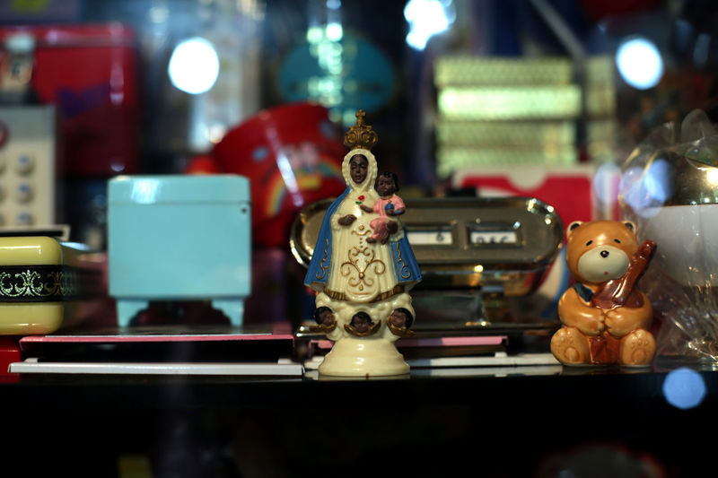 Close-up of toys on table at store