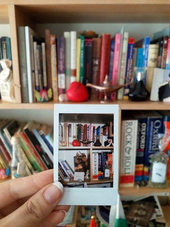 Polaroid. Books Bookshelf Polaroid Library Mini Library Booklover Books ♥