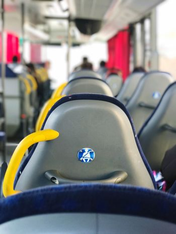 Transportation Vehicle Interior Mode Of Transport Vehicle Seat Indoors  Land Vehicle Close-up Seat No People Day on the road