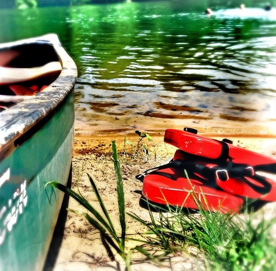 Summertime ☀️ canoes, life jackets and cold water creeks. Canoe Springriver Lifejackets Fresh On EyeEm