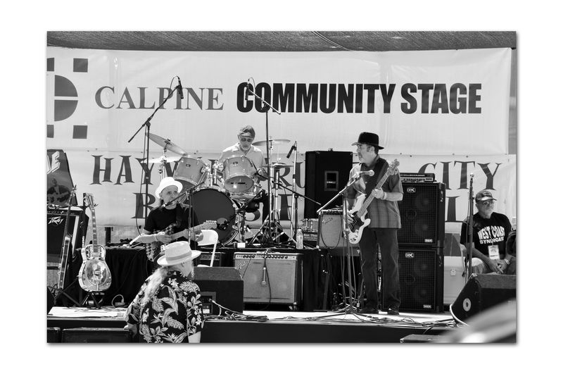 Russell City Blues Festival 1 Blues Bands Live Music Stage Performing Arts Musicians Instruments Microphones Amplifiers Speakers Monitors Bnw_friday_eyeemchallenge Bnw_performance Monochrome_Photography Monochrome Black & White Black & White Photography Black And White Black And White Collection  People In The Crowd Hats Russell City Blues Festival Summer Fun ☀️ Enjoying Life Downtown