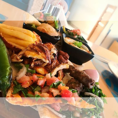 When it comes to Arabian cuisine, Lebanese foods are one amongst with truly distinguished tastes.... Loving To Eat Bahrain Food Manama Cafeblancbh Businesslunch Food And Drink Food Indoors  Ready-to-eat Still Life Freshness Close-up