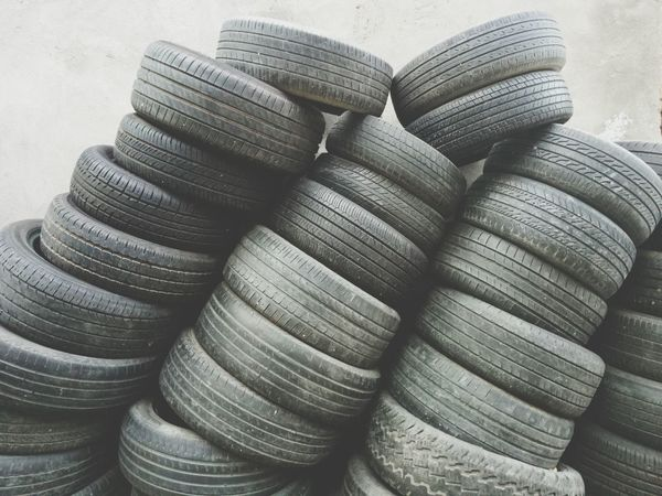 Stack Large Group Of Objects No People Day Indoors  Close-up Tire strick