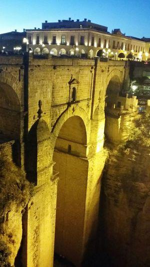 Bridge of Ronda Spain night