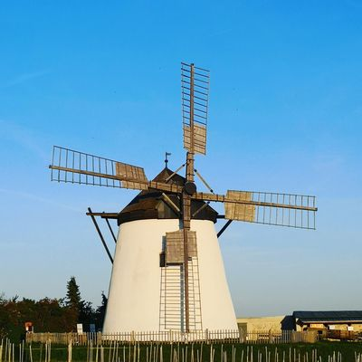 Traditional Windmill Wind Power Windmill Wind Turbine Technology Alternative Energy Blue Sky Architecture