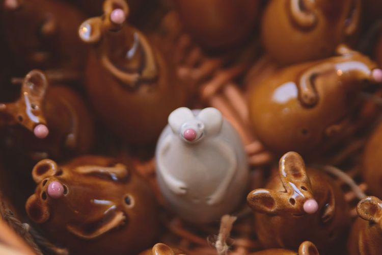 August Budapest, Hungary Workshop Brown Ceramics Close-up Cute Mice No People Traditional Festival White