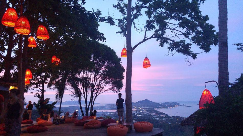 Sunset Samui_Sunsets Nature Peaceful Island Jungle Thailand Sea Tranquil Scene So Small