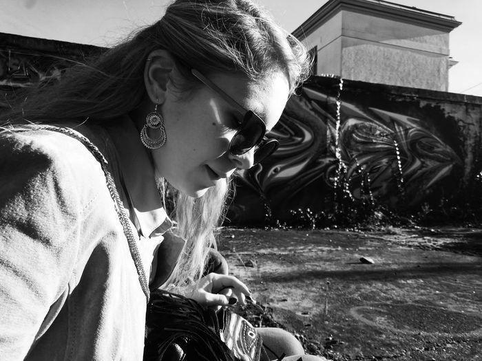 Portrait Streetphotography Blackandwhite Girlwithclass Girl And Sunshine Bordeaux Monochrome Photography Monochrome Photography