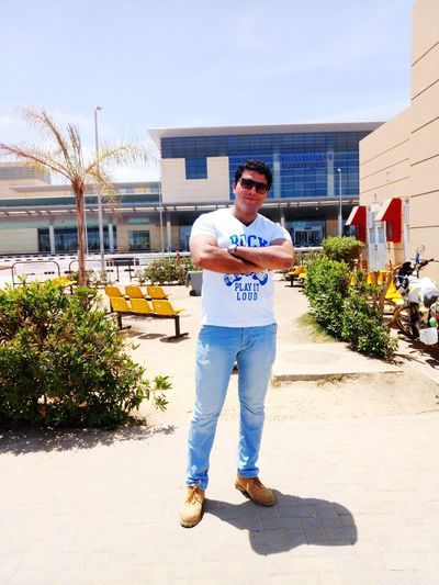 Me. In. Burj el arab Airport - alexandria - egypt One Man Only Only Men Full Length One Person Standing Front View Casual Clothing Building Exterior Looking At Camera Day Men Young Adult Outdoors One Young Man Only First Eyeem Photo Sky City Road No People Tree
