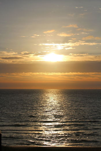 Sunset off Sylt Beach Beauty In Nature Holiday Horizon Over Water Idyllic Nature No People Orange Color Outdoors Reflection Romantic Scenics Sea Sky Sun Sunlight Sunset Tranquil Scene Tranquility Water