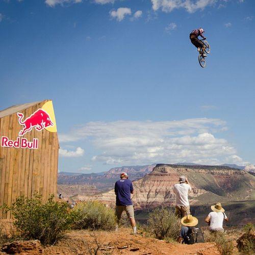 Jeff Herbertson has all the cameras on him! Redbullrampage RedBull Rampage  GivesYouWings Biking Downhill Utah SaltRoads