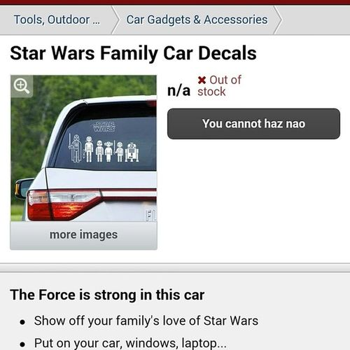 I will one day have this for my family Starwars Family Decals I know how much you love star wars too @reneeereeves