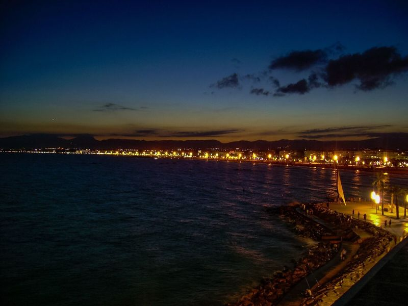 Sea Sea And Sky Sea At Night Life Is A Beach SPAIN Night Lights Nightphotography City Lights Streetphotography Beach Landscapes With WhiteWall