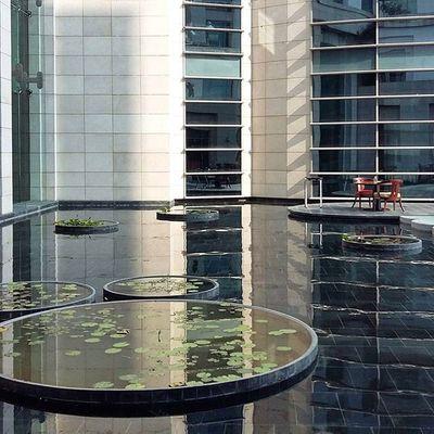 Insta India - Calm amidst Chaos Reflection Courtyard  Parkhyatt Hotel Chennai Zen