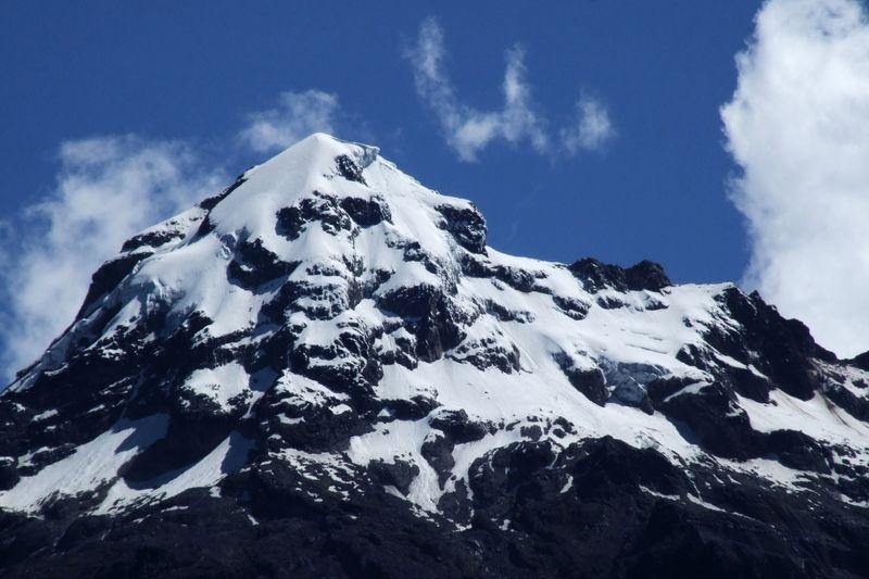 Mt. iliniza sur in the high andes of ecuador