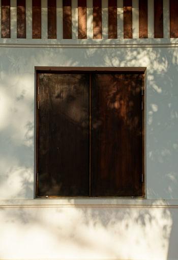 Exterior of closed window