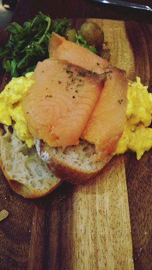 Smoked salmon crambly. Alldaybreakfast Cafehoppingsg TheBreadeats Singapore