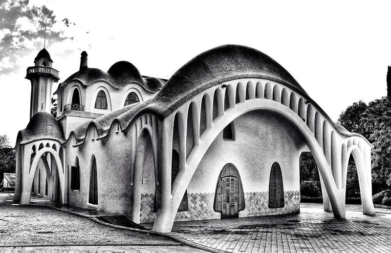 Masia Freixa Barcelona EyeEm Best Shots Black And White Blancoynegro HDR Hdrphotography Hdr Edit Black & White Blackandwhite Blackandwhite Photography Masia Freixa Terrassa Building Exterior Building Religion Spirituality Sky Architecture Historic Arch History Historic Building Exterior