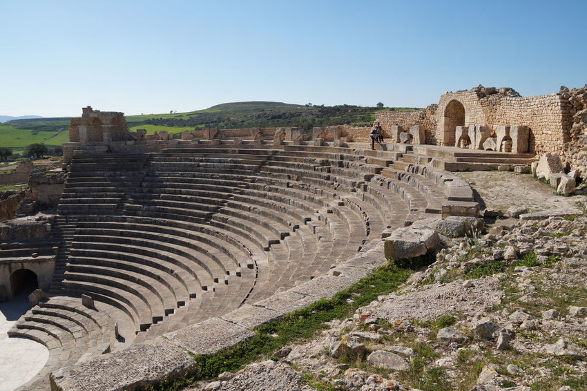Dougga Roman Ruins Ancient Ancient Civilization Ancient History Arch Archaeology Architecture Building Exterior Built Structure Clear Sky Day History No People Old Ruin Outdoors Roman Architecture Roman Empire Roman Theatre Sky The Past Tourism Travel Travel Destinations