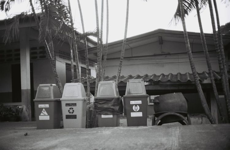 Large Group Of Objects Day Stack No People Outdoors Architecture EyeEmNewHere Blackandwhite Bw Recycle Filmcamera Shootfilmnotmegapixels Waste Collection