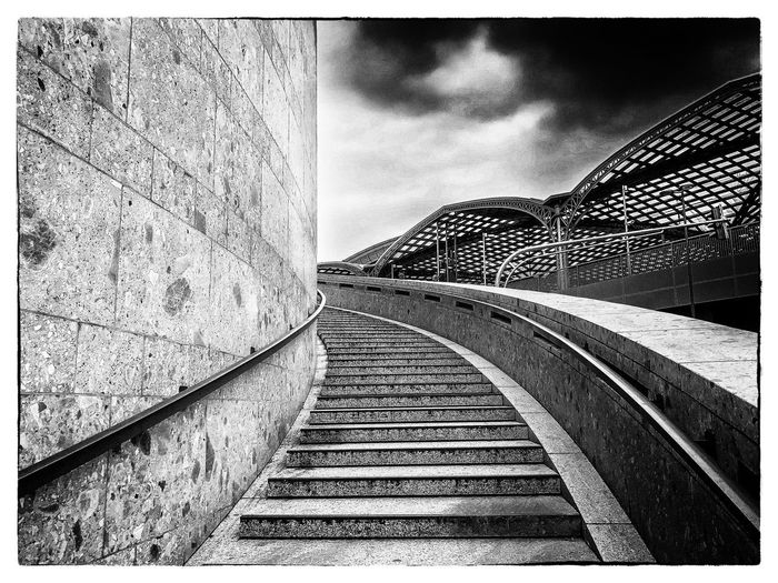 Koln Hbf Architecture City No People Outdoors Sky Bahnhof Köln Stairs Stairs_collection Blackandwhite Black And White