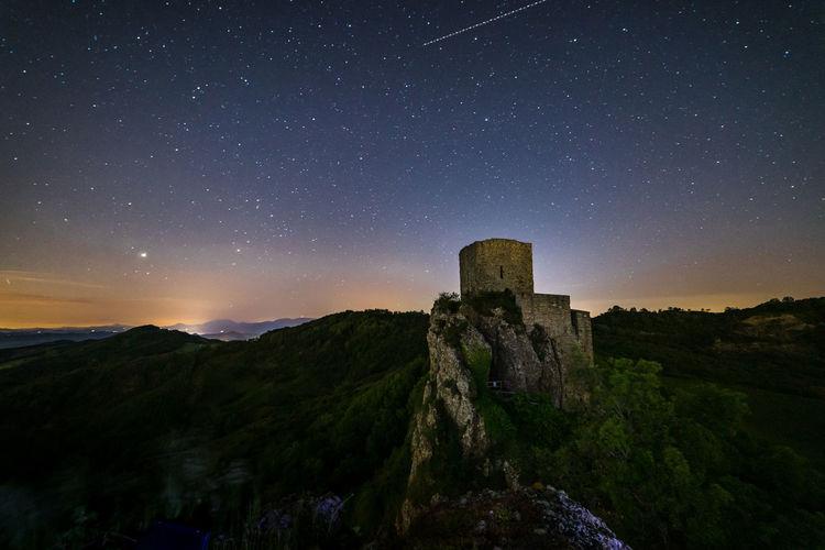 Old castle of pietrarubbia