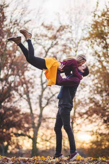 Movement Motion Autumn Gravity Flying Infinity Freedom Fly Love Couple Childhood Winter Child Warm Clothing Nature Leisure Activity Full Length Tree One Person Offspring Plant Real People Lifestyles Clothing Land Girls Glove Day Outdoors Scarf