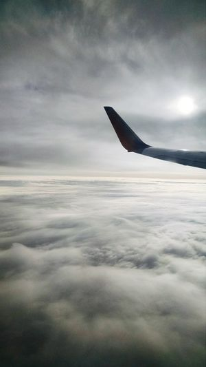 Airport Photography Traveling Sky Clouds Airplane