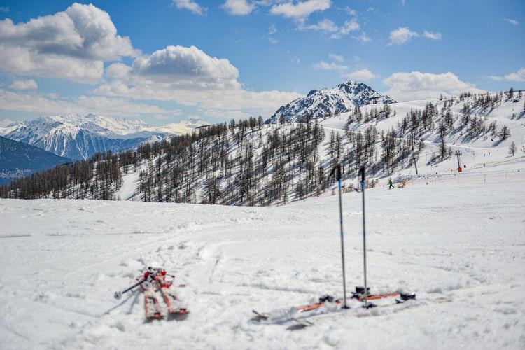 Scenic view of ski resort