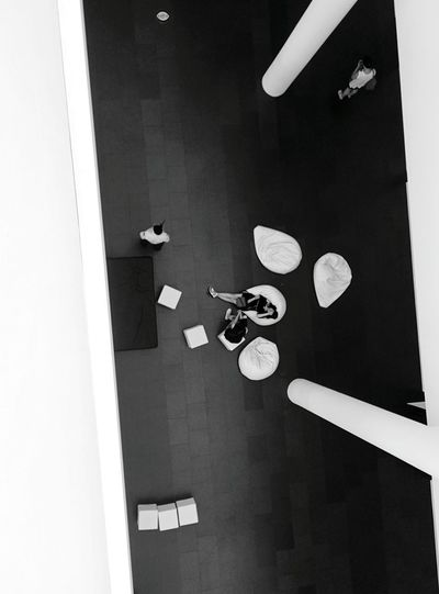 From above Blackandwhite Streetphotography Streetphoto_bw Lines Geometry Above Barcelona Museum People Rest Dramatic Angles Monochrome Photography