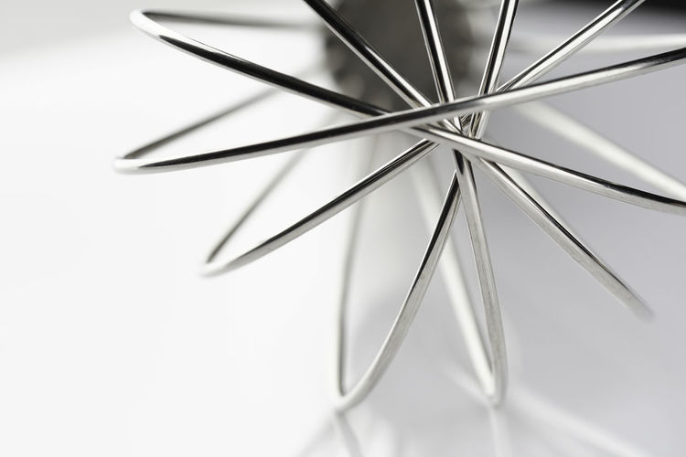 Close-up of metal against white background
