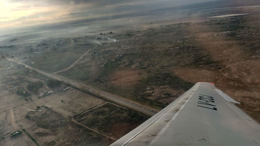 No Filter Wing Transportation Aerial View Buenos Aires, Argentina  Nature Landscape Mendoza, Argentina. Airplane