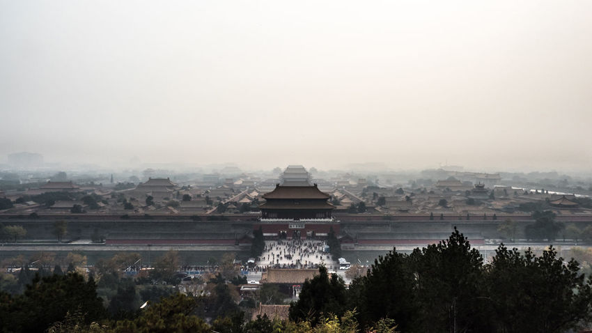 Smog over the Forbidden City. Air Pollution Beijing Beijing, China Built Structure China Chinese Architecture Chinese History Cityscape Citywall Fog Forbidden City Grey History Mist No Sky Olympus OM-D E-M5 Mk.II Outdoors Place Of Worship Smog Tourism Travel Destinations Travel Photography 北京 故宮 雾霾