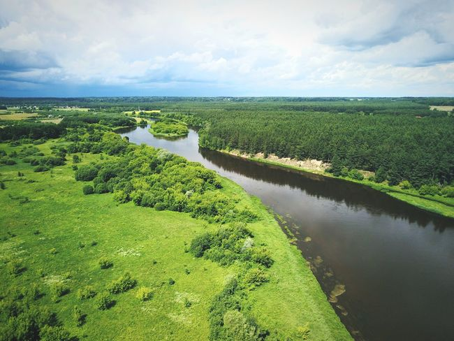 River Neris in East Europe Landscape Aerial Aerial View Aerial Shot Mavic Mavic Pro Djimavicpro Cloud - Sky Scenics Weather Dramatic Sky River Island Nature Freshness Summer Green Color Forest Lithuania Neris River Nerisriver Neris