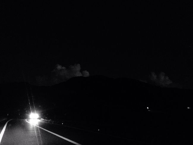 Transportation Night Illuminated Sky Road No People Mode Of Transport Land Vehicle Nature Outdoors Cloud