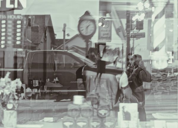 Reflection Indoors  Store Men People Real People Adults Only Women Old-fashioned Adult Occupation One Person Day Only Men Monochrome Photography Black And White Photography