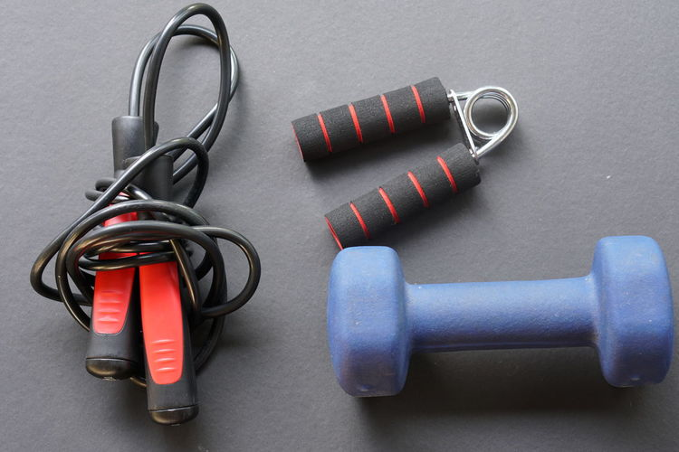 Close-Up Of Exercise Equipments