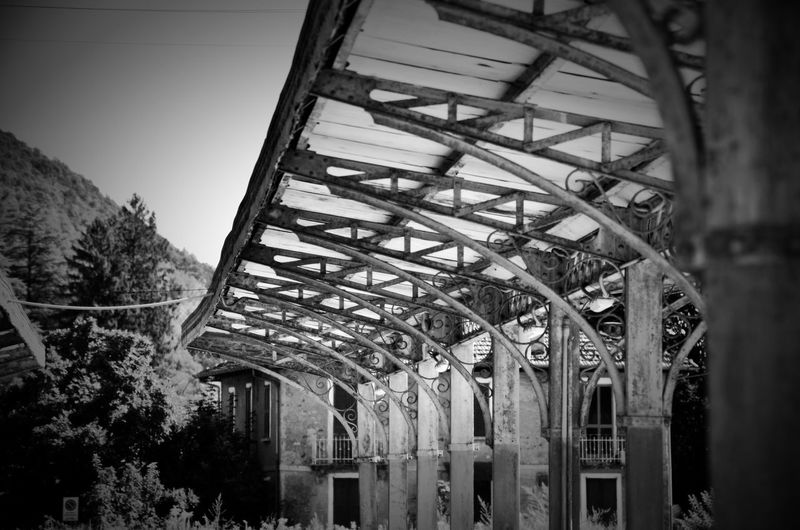Former train station, now bus station, Ghirla, Valganna, Varese, Italy. Train Station Trainstation Blackandwhite Blackandwhite Photography