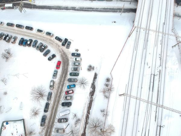 Winter Architecture High Angle View Built Structure Day Cold Temperature Nature Water Outdoors Building Exterior Motor Vehicle Street Land Vehicle No People City Snow Car