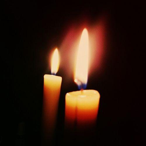 свечи пламя атмосфера