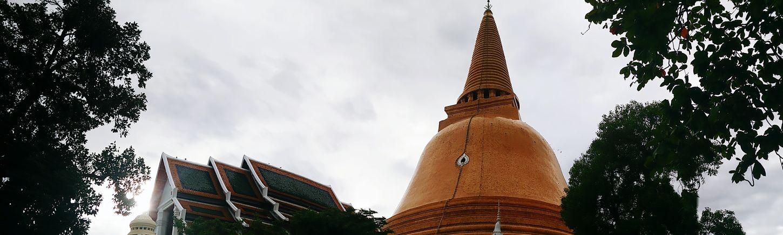 Prapathomchedi A Day In Thailand Nakorn Phathom Keep Smiling Sunset