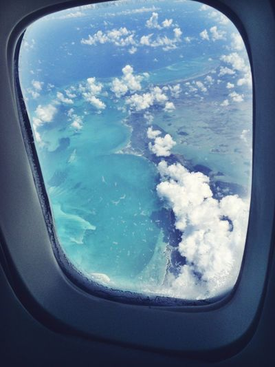 Bahamas??? Hello World Enjoying Life Hanging Out From An Airplane Window